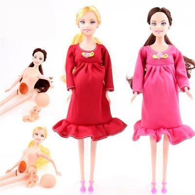 Pregnant Mommy Doll Suits Have A Baby In Her Tummy For Barbie Dolls Girls JA