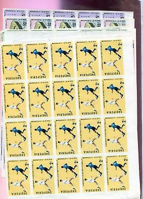 Albania 1970 Mnh 25 Sets Imperforate 11493
