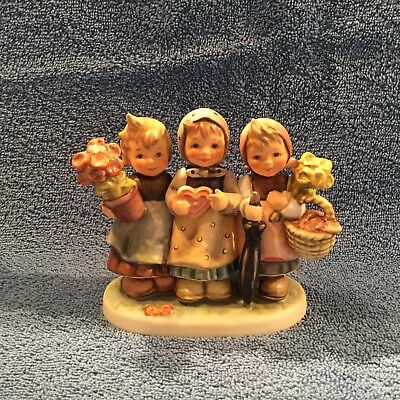 "Hummel ""trio Of Wishes"" #721 Tmk-7 Children Bearing Gifts Mint In Original Box"