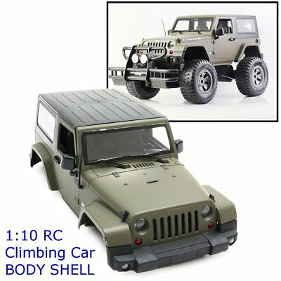 Modified Jeep Car Body Shell For 1:10 RC Green Model Climbing Crawler Car D90
