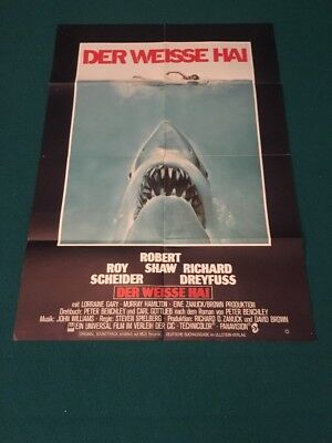 Jaws 1975 one sheet film Poster - Robert Shaw Steven Spielberg original
