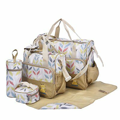 CLEARANCE 5pcs Laminated Baby Nappy Changing Bags Hospital Bag GOLD LEAVES 5pcs