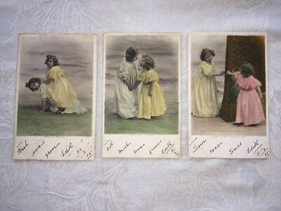 Group Of 3 Postcards From 1905 - Miss Edna Churchill