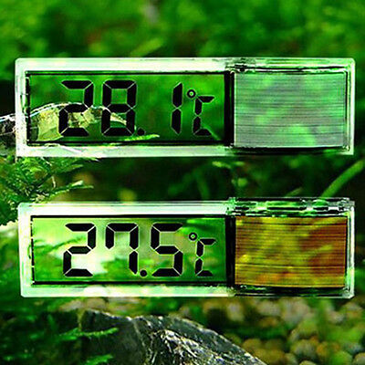LCD 3D Crystal Digital Measurement Fish Tank Reptile Aquarium Thermometer Meters