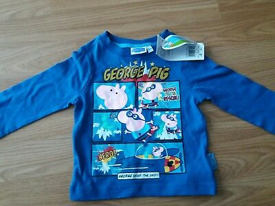 Boys George Pig Long Sleeved Top 3-6 Months (New)