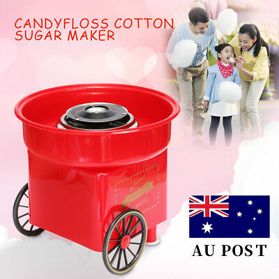 Retro Electric Candyfloss Cotton Sugar Candy Maker Machine KIDS Home Party DIY