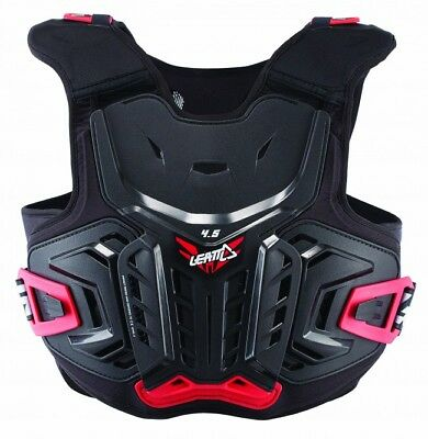 New Leatt Chest Protector 4.5 Junior Body Armour Black Red Youth Kids Mx Bmx Mtb