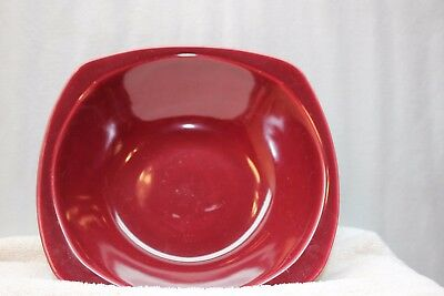 The Paden City Pottery Co. Minion Maroon Pattern Serving Bowl Used