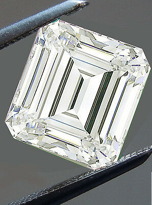 3.33 ct VVS1/9.84MM GENUINE H-I WHITE EMEREALD COLOR LOOSE MOISSANITE 4 RING
