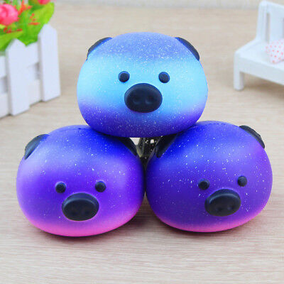Sky Squishy Bear Accessories Silicone Squishi Animals Pig Panda Hand Squeeze Toy