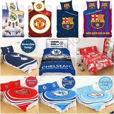 Football Clubs Duvet Cover Set Single Double - Arsenal Barcelona Chelsea & More