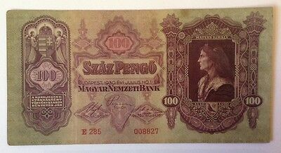 Hungary Banknote.100 Pengo. Dated 1930