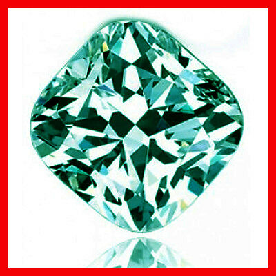 1.22ct VVS1/BLUE GREEN LOOSE CUSHION REAL MOISSANITE  FOR RING