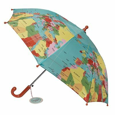 dotcomgiftshop CHILDRENS UMBRELLA VINTAGE WORLD MAP. KIDS GIRLS BOYS BROLLY
