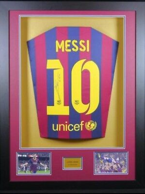 Lionel Messi Signed And Framed Football Shirt and Authenticity Certificate (COA)