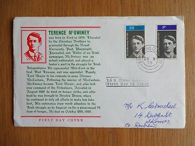 Ireland Eire - 1970 Irish Patriot Terence McSwiney First Day Cover FDC