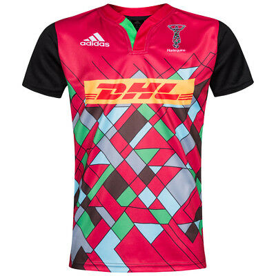 Harlequins Rugby Union Adidas Children's Jersey RUGBYshirt Shirt S21120 NEW