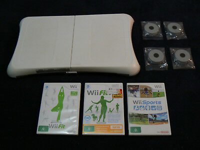 GENUINE Nintendo Wii fitness balance board PAL 3 games Wii Fit, Fit Plus, Sports