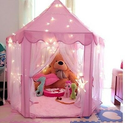 Pink Princess Castle Kids Play Tent Children Playhouse, Great Christmas Gift