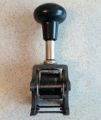 Vintage Library Date Stamp Made in England 1950-1999 Self Inking