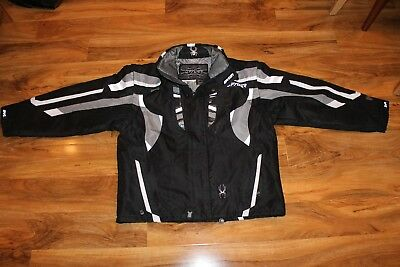 Men's Original SPYDER Ski Jacket Black, White and Grey, size XL