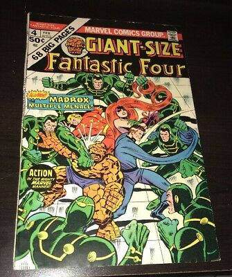 Giant-Size Fantastic Four #4 FN- 1st App Jamie Madrox Multiple Man X-Men KEY