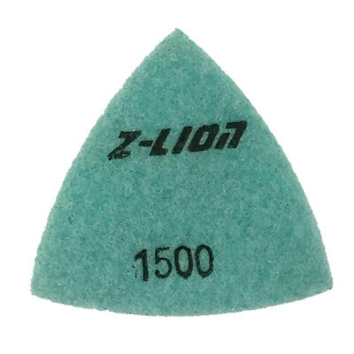 93mm Electroplated Diamond Triangular Dry Polishing /Buffing Pad 1500 Grit