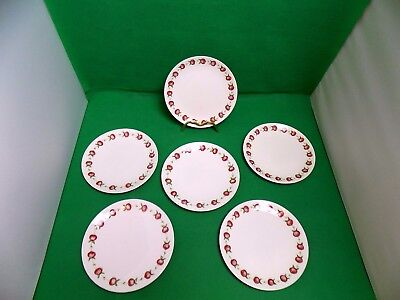 Susie Cooper Apple Gay Side Plates x 6