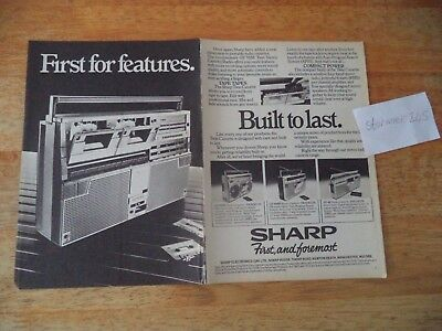 Sharp  Gf555E Cassette Radio   Vintage Magazine Advert     8   1     S        E