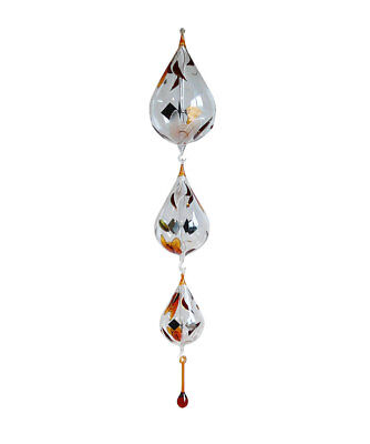 3 Radiometer with Stand Solar Radiometer to Hang Up Teardrop Hand Painted Peach