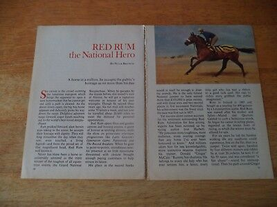 Red Rum  National Hero  Vintage Magazine Article  8     1     A     P