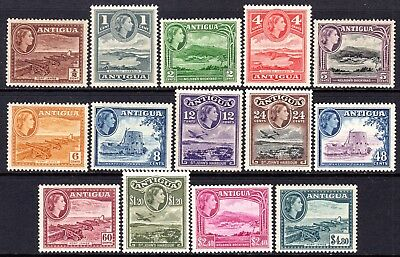 Antigua QE2  1953-62 Set SG120a-34 (Missing 3c) M/Mint Cat £85