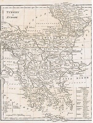 "Map of ""Turkey in Europe"" undated. Showing Greece to Moldovia."