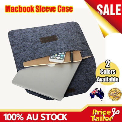 OZ Laptop Wool Felt Sleeve Case Cover Bag Pouch for Apple MacBook Air Pro Retina
