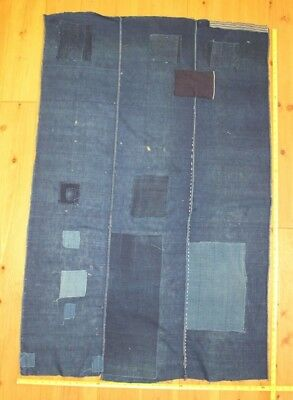 Antique Japanese Indigo Cotton Boro Tattered Futon Cover Fabric Kimono