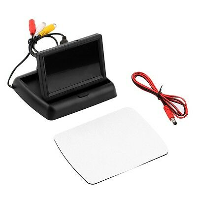 4.3'' LCD TFT Foldable Color Monitor Screen For Car Reverse Rearview Camera PR
