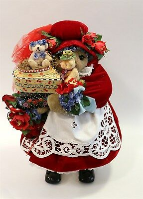 """Apple Whimseys Bear """"Forget Me Not"""" Numbered and Dated 18"""" Ltd Ed. 34/100"""