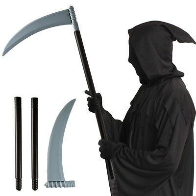 Halloween Scythe 70Cm Prop Grim Reaper Fancy Dress Grim Costume Accessory