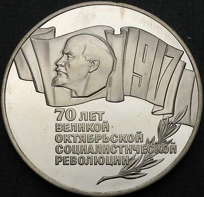 RUSSIA (Soviet Union) 5 Roubles 1987 Proof - October Revolution - 830 ¤