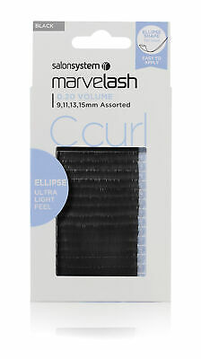 Salon System Marvelash C Curl 0.20 Volume Ellipse Style Strip False Eye Lashes