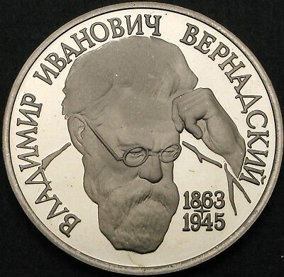 RUSSIA 1 Roubles 1993 Proof - V.I. Vernadsky - 849 ¤