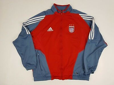 Bayern Munich Munchen Football Track Training Top Zip Jacket Size L 40-42""