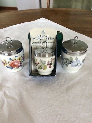 Royal Worcester - 3  x egg coddlers - 2 x king size, 1 x small -