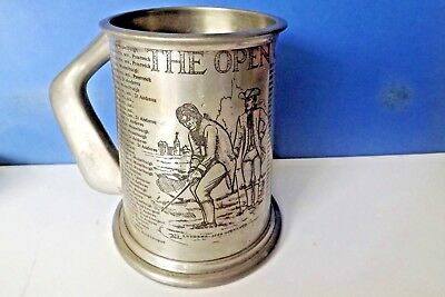 Pewter tankard THE OPEN CHAMPIONSHIP 1976 19th hole & JACK DANIELS No7 Hip flask