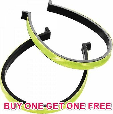 3M Quality Reflective Hi-Vis Cycling Trouser Clips Winter Safety Buy1 Get 1 Free