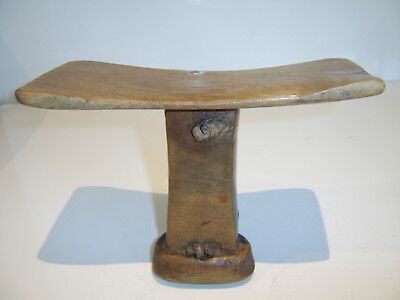 Old Antique African Carved Headrest Elegant Example - Not Tourist