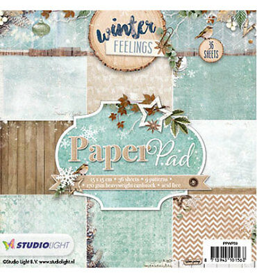Paperpad Papierblock Winter feelings Weihnacht 36Bl 15x15 DIY Studiolight PPWF59