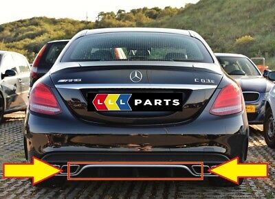New Genuine Mercedes Benz Mb C63 W205 Amg Rear Bumper Diffuser Chrome Trim