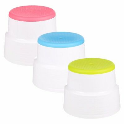 Round Multi Purpose Sturdy Plastic Step Up Stool Kitchen Stacking Footstool Home