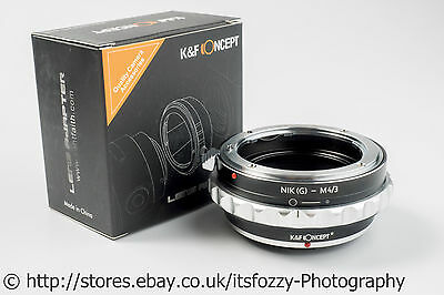 K&F Concept Nikon(G) to M43 Adapter Nikon F(G) to Micro Four Thirds MFT Adapter